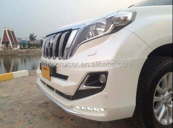 2014 Toyota prado FJ150 front bumper guard with LED,MOOELLISTA design front bumper gaurd with lights for p,rado FJ150