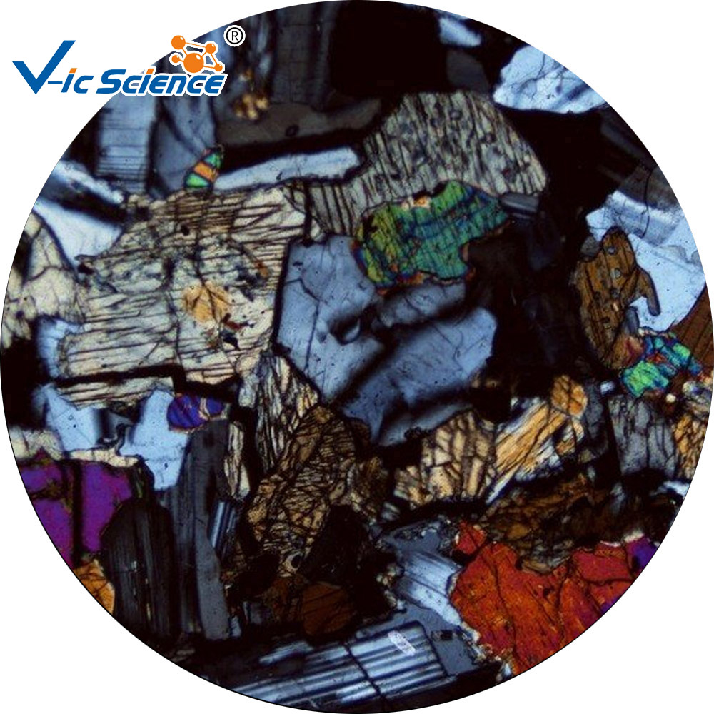 For sale prepared rock specimen thin section microscope slide
