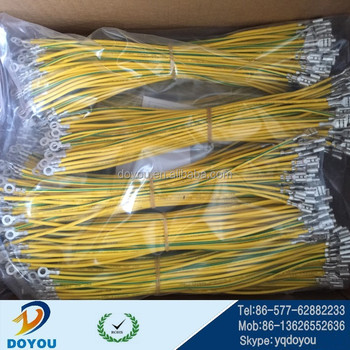 custom wiring harness 250 faston terminal ring terminal 0 75mm2  yellow/green engine wiring harness