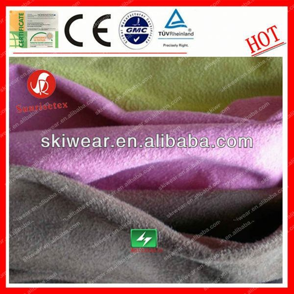 breathable anti pilling polyester suede/offset printing suede