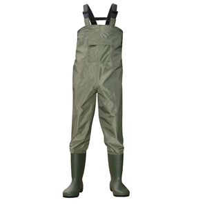 Nylon Suspender Fishing Chest Wader, Chest Wader for Fishing with Chest Pocket
