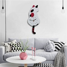 Materiale acrilico A Forma di Cane Battery Operated Animale Decorativo Orologio <span class=keywords><strong>Da</strong></span> <span class=keywords><strong>Parete</strong></span> Con Coda Altalena