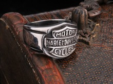 Wholesale Men's punk biker ring,Men stainless steel biker rings, Biker titanium Ring jewelry Free shipping BR8-044