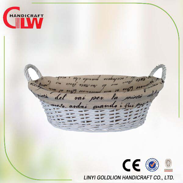 Waterproof Small Pe Coating Wicker Gift Basket,Eco-friendly Folding Jute Storage Basket