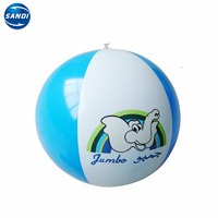 Promotional custom pvc plastic inflatable beach ball with LOGO