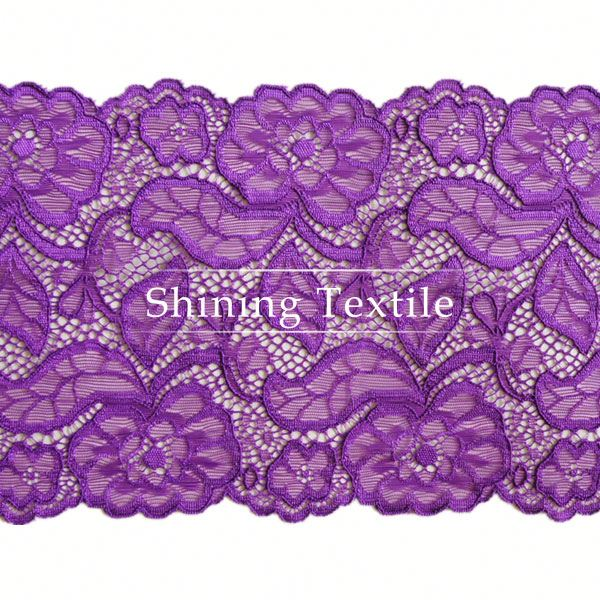 In Stock Nylon Spandex Stretch Textiles Trim Lace For Lingerie