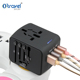 Mobile travel adapter multi lead adapter wall plug world travel adapter 2 with dual usb charger Adaptor accessory AUS EU US UK