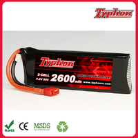 Polymer li ion 7.4V 2S 2600mah 25C Lipo Battery For Wltoys V913 Brushless Heli