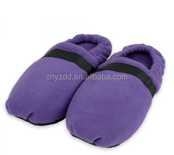 Microwave Slippers Heated Indoor Wheat Bag Feet Warmers Slipper