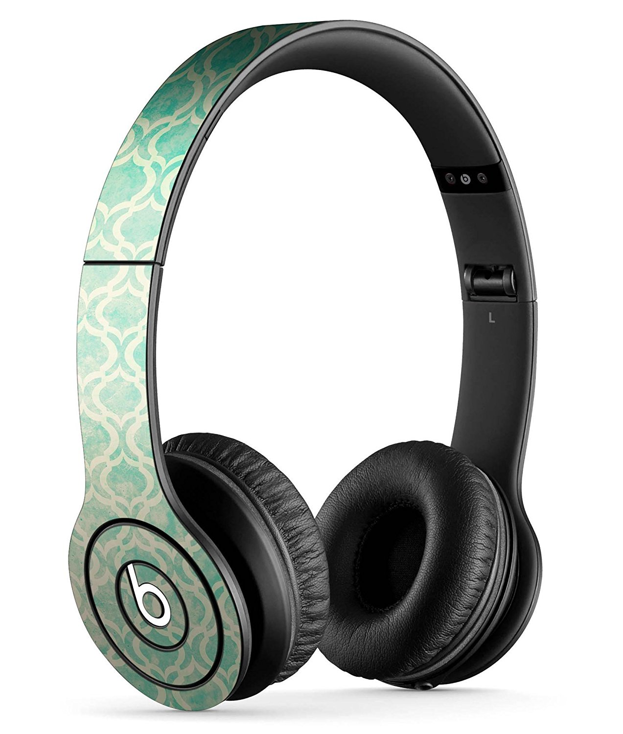 Faded Teal Oval Pattern DesignSkinz Full-Body Skin Kit for the Beats by Dre Solo or SoloHD Headphones / Ultra-Thin / Matte Finished / Protective Skin Wrap