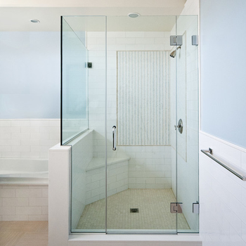 Build Bathroom Frosted Glass Sliding Door Tempered Glass Frosted