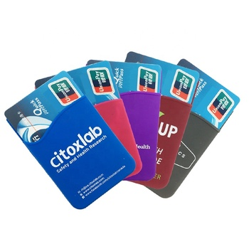 custom high quality silicone mobile phone id credit card holder