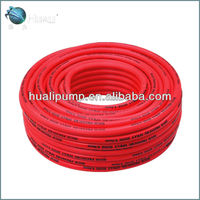 red color PVC high pressure power spray hoses with 3 layers, parallel crossing hose