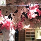 Hot Selling Artificial Cherry Blossom Flower Silk Cloth Home Table Center Piece Wedding Party Decoration Christmas Showroom
