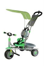2012 fashion design, hands push type, canopies, children tricycle and baby tricycle