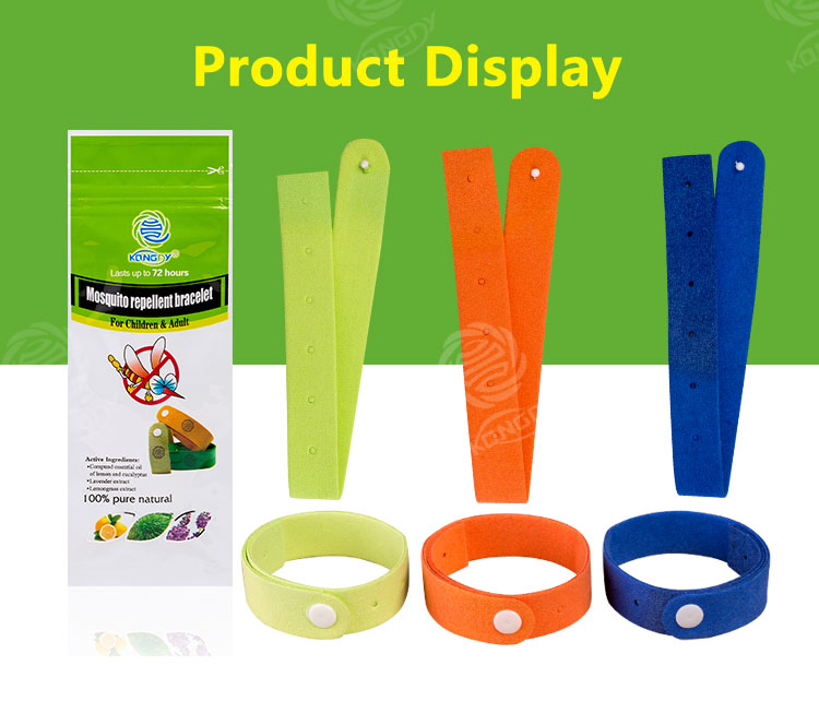 OEM service textile fabric non-toxic and easy to use mosquito repellent bracelet