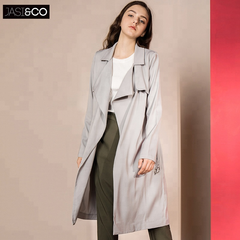 Popular Women's 2018 Autumn Ladies Casual Fashion Spring Long Ladies Coats for Women