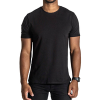 Man Blank Black T Shirt Soft Cotton T Shirt Cheap Wholesale T Shirt