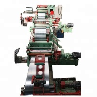 SS CR HR GL AL metal steel coil slitting longitudinal cutting shearing recoiling line slitter machine equipment device