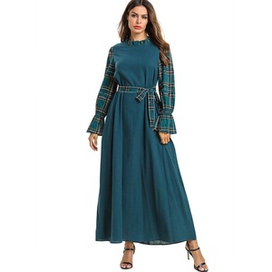 c41b212101 New arrival fashion women muslim dress dubai abaya wholesale maxi dress  latest design long sleeve muslimah