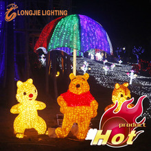 lighted cartoon figures 3d animal motif light