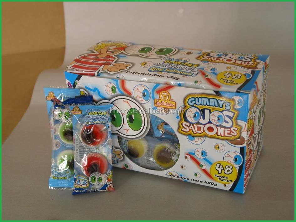 one couple eyeball customer soft jelly gummy sweets