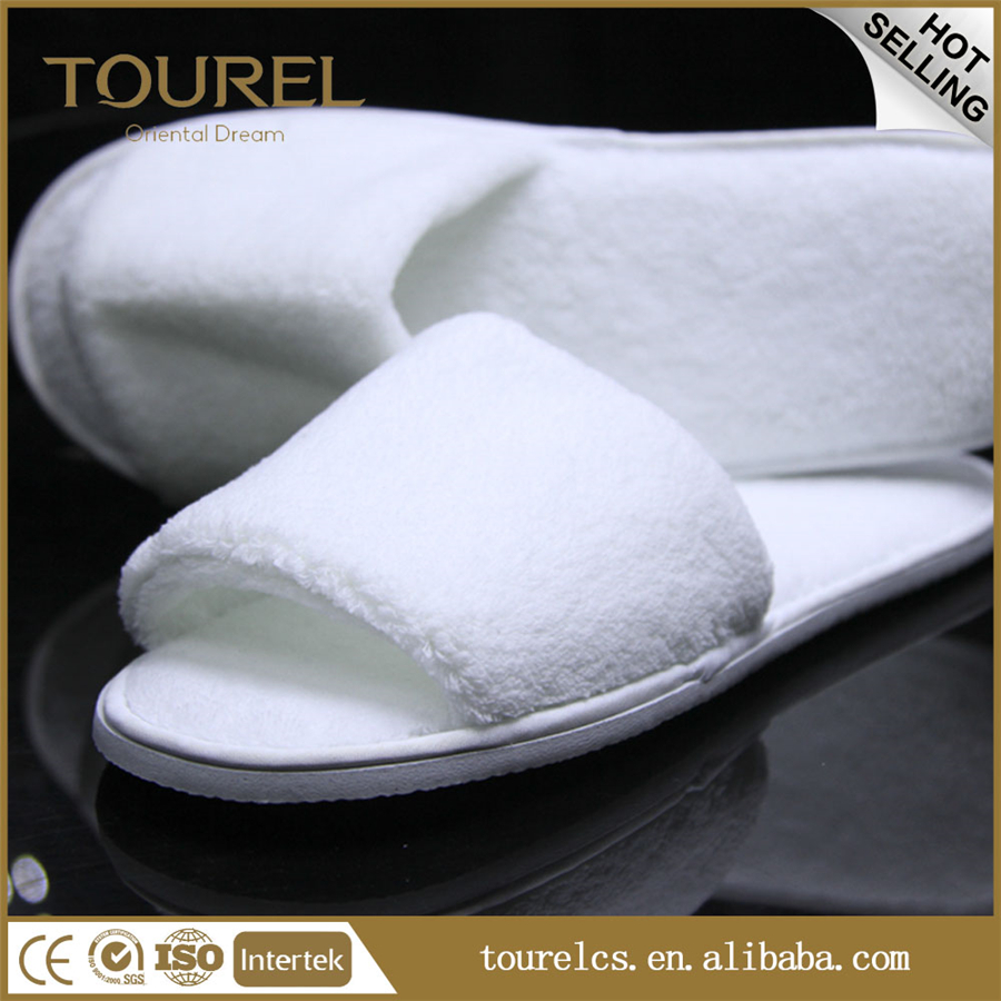 100% cotton disposable spa slippers