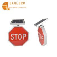 Solar speed limiting road safety LED traffic signs