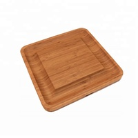 Wood Cutting Set Slicer Knife Rubber Bread Large Bamboo Cheese Board