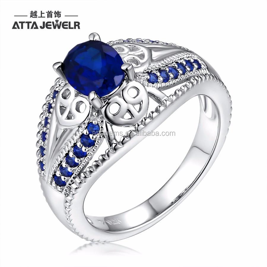 ceylon blue sapphire silverworks rings latest design girls fashion ...