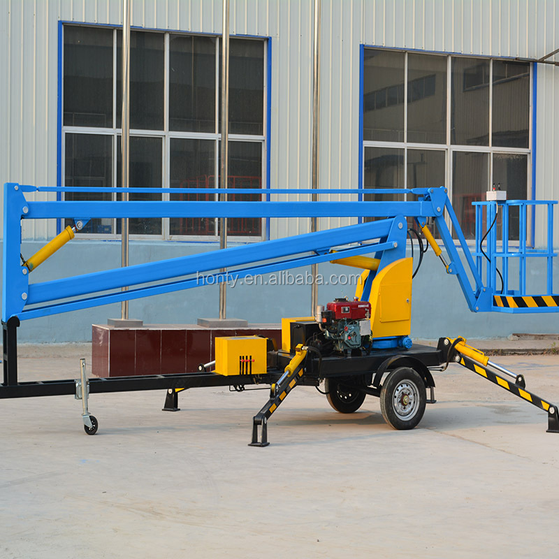 CE Certificated Aerial boom lift high rise window cleaning equipment for building