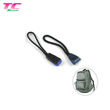 Backpack Sportswear Personalized Color Logo Plastic PVC Rubber Custom Cord Zipper Puller