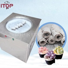 Commercial Single Pan Fried Ice Cream Roll Machine