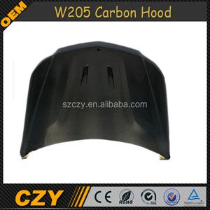 W205 C Class Carbon Auto Tuning Front Engine Bonnet Hoods For Mercedes Ben  z C300 C400 14-16