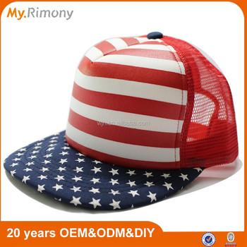 b406e7aa379 American Flag Foam Flat Cap - Buy Flat Cap