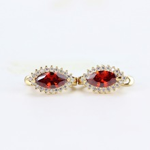 classic taste popular Saudi sterling vintage design earrings red crystal women earrings