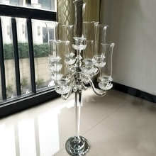 Wholesales Big Crystal Candelabra 9 arms Candle Stand Wedding Centerpiece Table Decoration