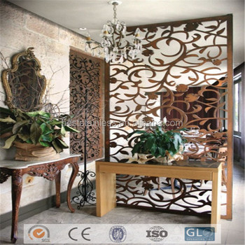Luxury Arabic Room Divider Screen Pvd Plating Laser Cut Product On