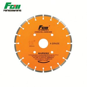Blank diamond cutting concrete saw segmented turbo blade