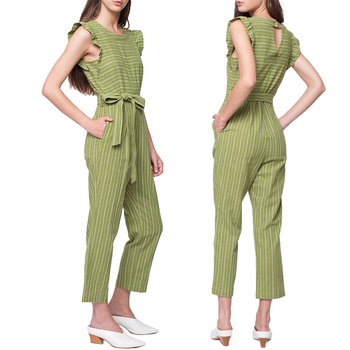 Jumpsuits Women Woman Jumpsuit Latest Design Striped Linen Playsuit Buy Jumpsuits Women Women Jumpsuit Rompers Womens Jumpsuit Product On Alibaba Com