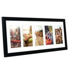 Wholesale cheap wood 8x24 Black Collage Picture Photo Frames - Display five 4x6 Inch Photos on Your Wall