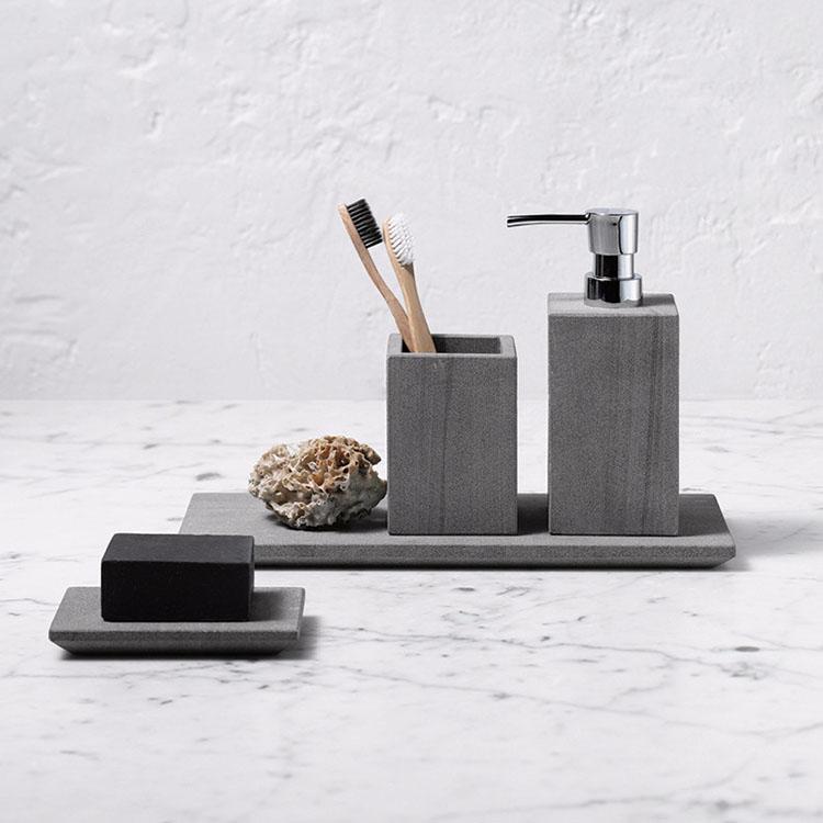 Wonderlijk Moderne Unieke Elegante Bruin Marmer Badkamer Accessoires Set GY-09