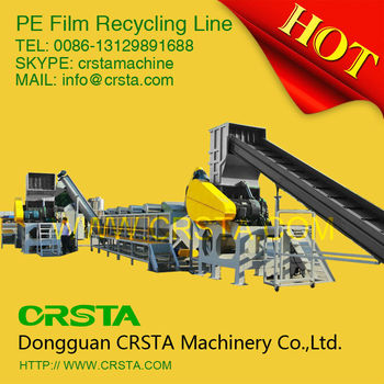 Waste Plastic PP WOVEN BAGS PE Film Washing Line/recycling Machinery