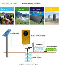 MPPT Solar Pump Inverter Without Battery for AC Power Pump Converter system