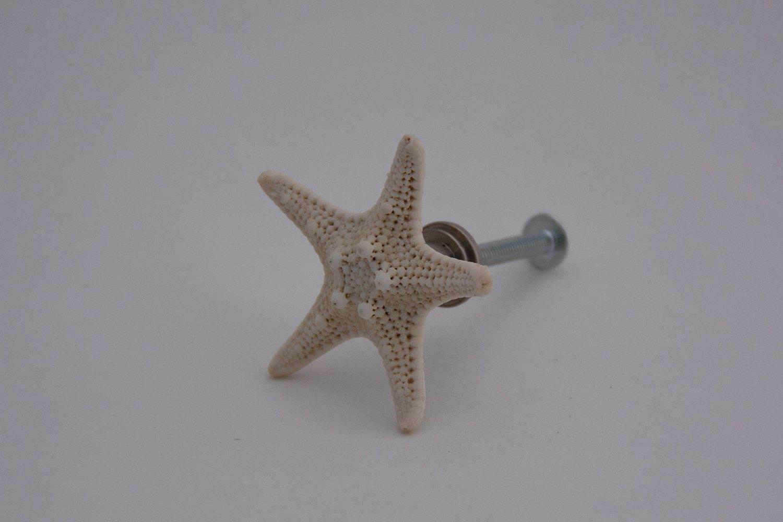 LBFEEL 4 Pack Antique Starfish Knob Seaside Beach Theme Style Starfish Pull Handle for Kitchen Drawer Cabinet Door Hardware
