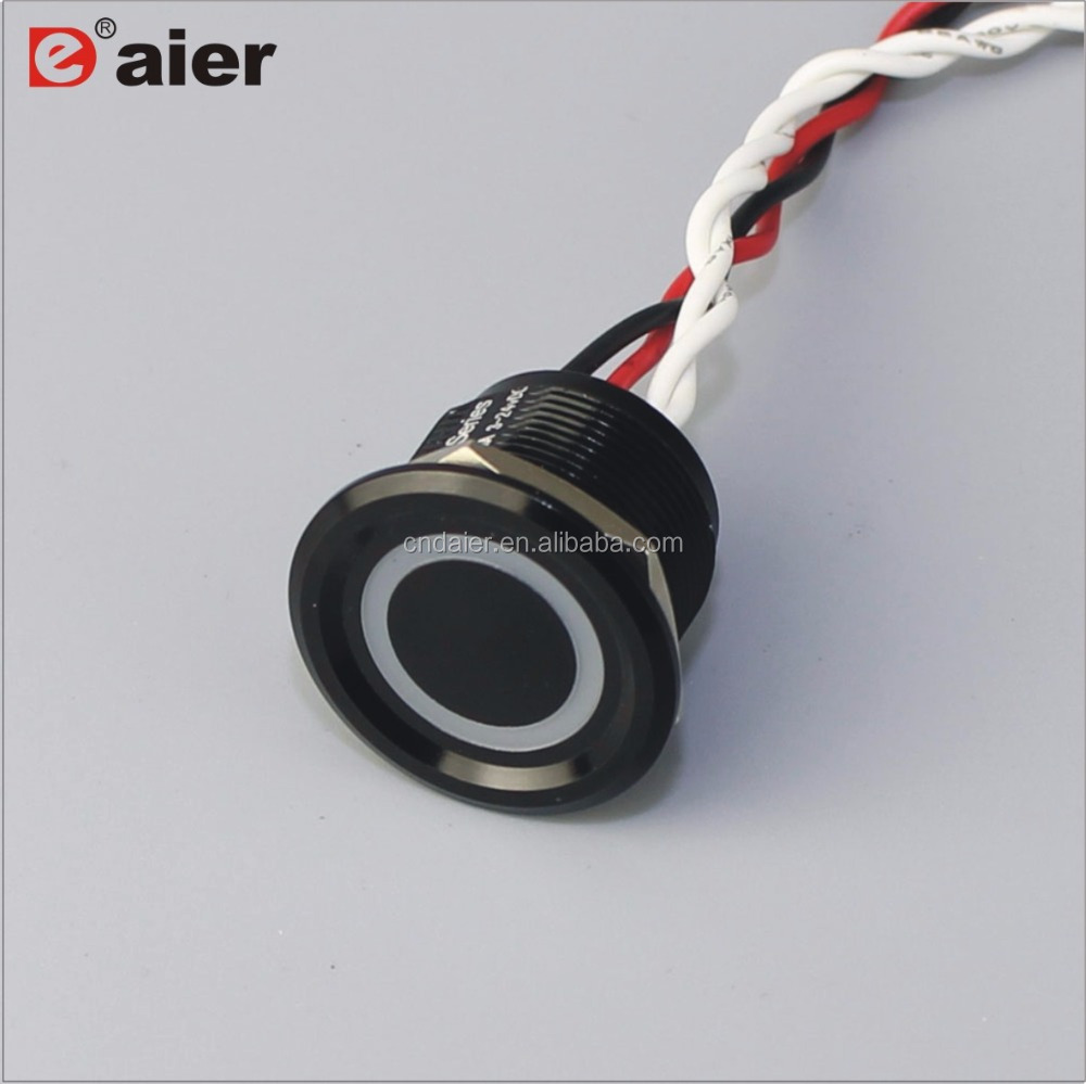 22mm aluminum door push button cover piezo <strong>switch</strong> 24v with led