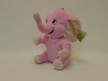 Cute Plush Colorful Elephant Soft Stuffed Wild Animal Toy With Big Ears(CE/EN71)