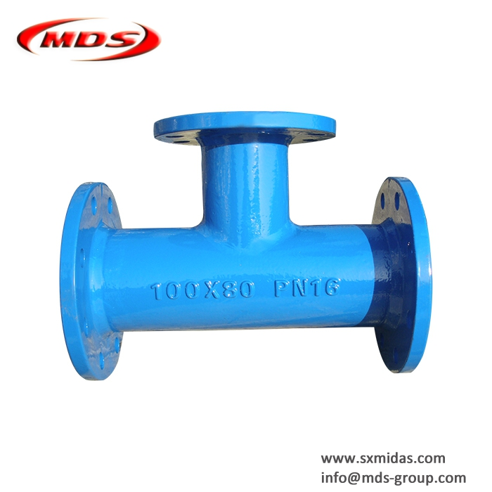 awwa c110 di ductile iron pipe fitting d flanged pipe