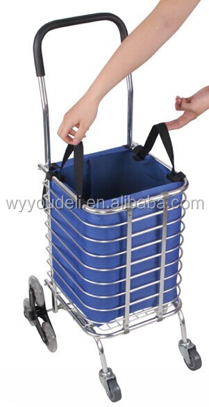 easy folding shopping trolley ,shopping cart with bag ,supermarket shopping trolley
