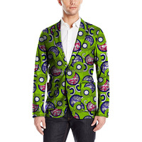 African men blazer wax print long sleeve ankara fabrics for african men tops wear